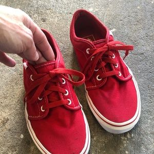Men's All Red Classic Low Top Vans